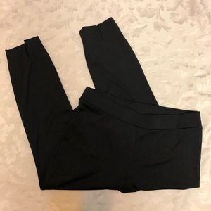 Eci black pull on pants with ankle slits size L